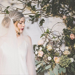 #weddingwednesday Bridal blooms on a gre