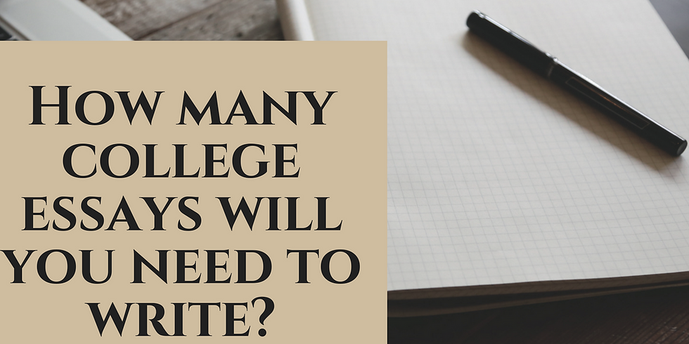 Developing Your College Essay Arsenal