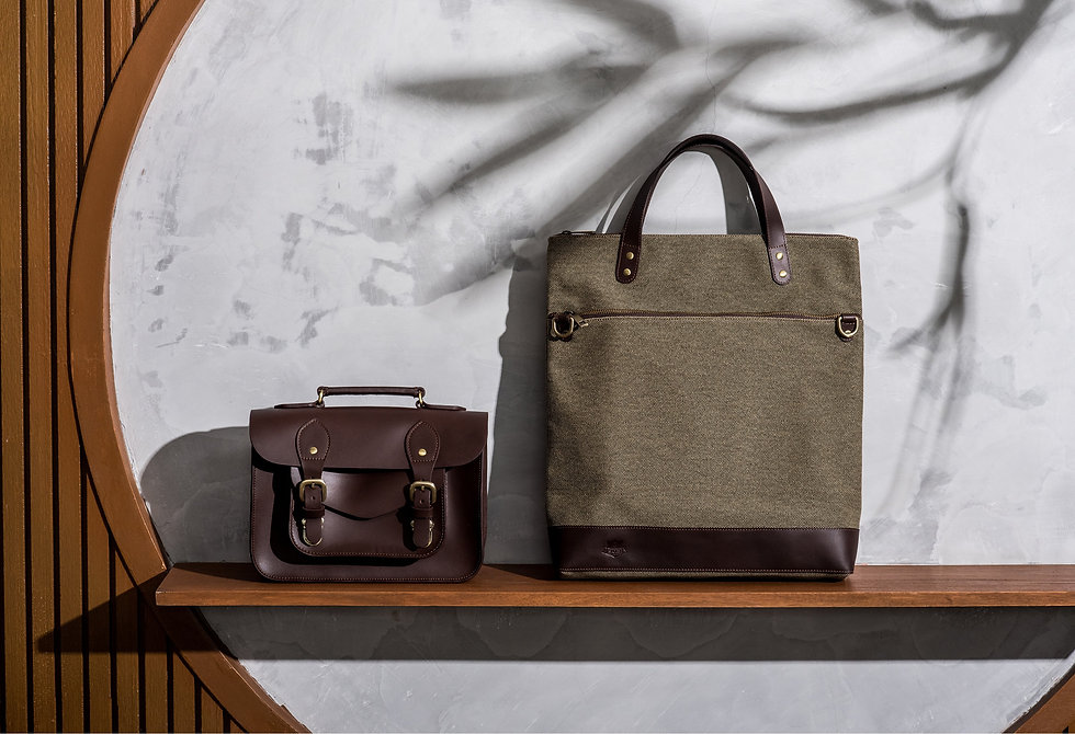 the school of satchel leather bag tote.j