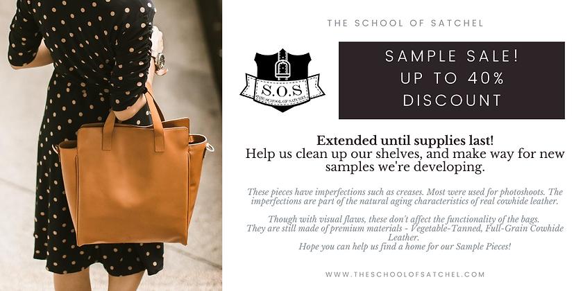 SAMPLE SALE leather bag the school of sa
