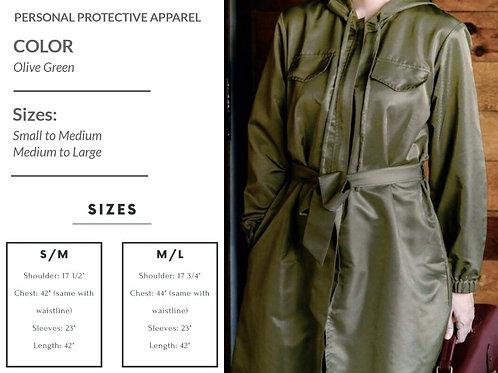 Niu.Norm Peyton PPE Coat Olive Green (unisex)