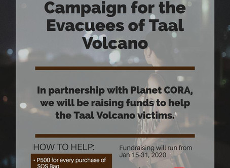 A Fundraising Campaign for the Evacuees of the Taal Volcano Phreatic Eruption