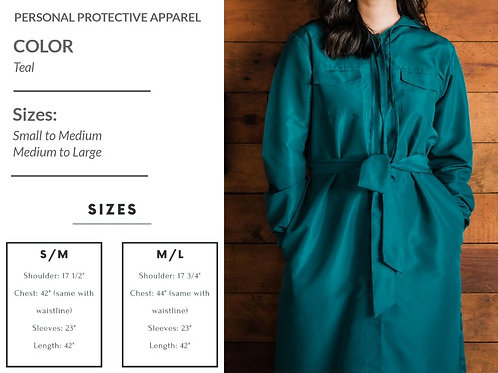 Niu.Norm Peyton PPE Coat Teal (unisex)
