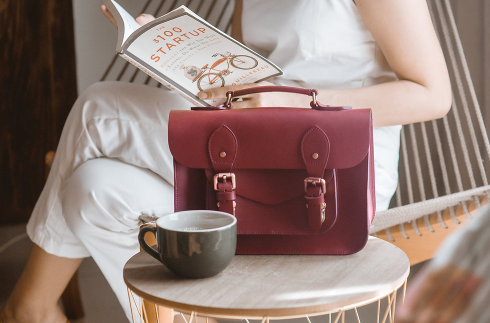 the school of satchel leather bag emma o