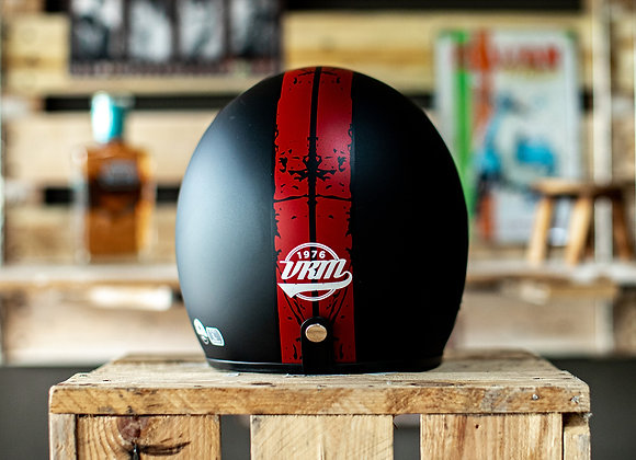VRM 1976 PAINTED Stripes Distressed Matte Black with Red