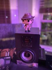 Fourth Doctor Who Bobble Head on Speaker at The NoiseRoom NJ.JPG