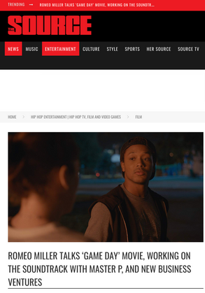 THE SOURCE: ROMEO MILLER TALKS 'GAME DAY' MOVIE