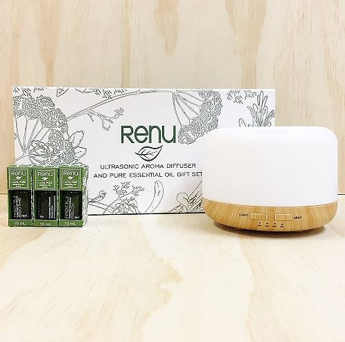 Renu 3 hour Electric Diffuser Set with Oils