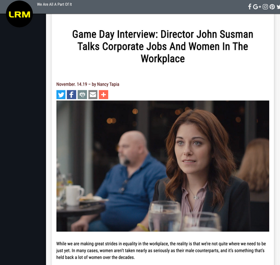 Game Day Interview: Director John Susman Talks Corporate Jobs And Women In The Workplace