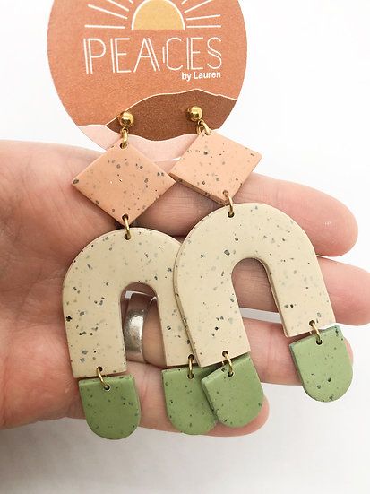 Orchard grass earrings