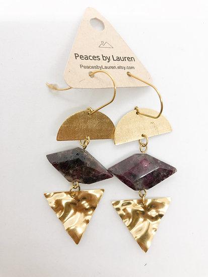 Sale natural stone earrings