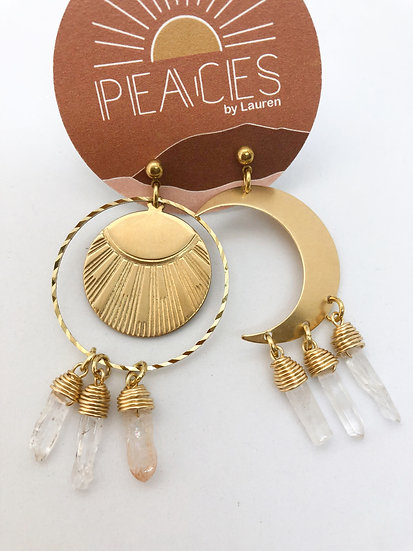 Contrast earrings
