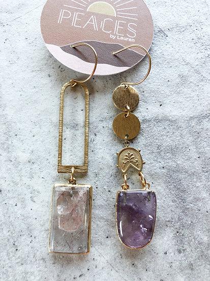 Fields of lavender earrings