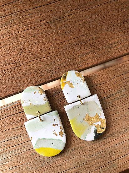 Golden sage earrings