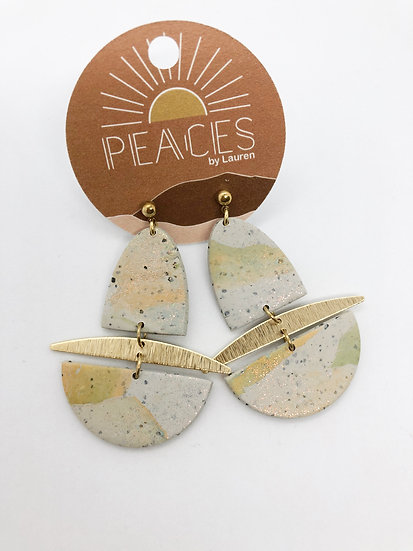 Desert sage earrings