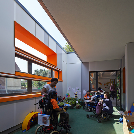 Terrace learning space.
