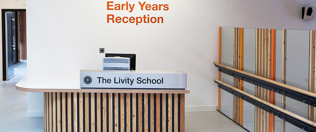 Early Years' reception desk.
