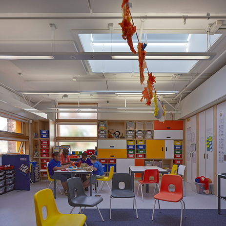Silver classroom.