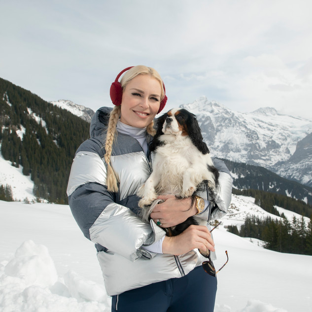 Host Lindsey Vonn and Lucy