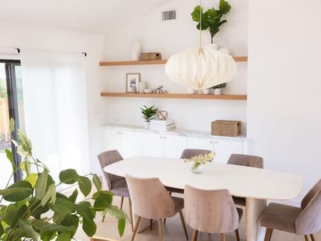Dining Area, Custom Shelves, Redwood City