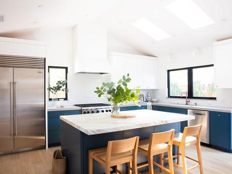 Kitchen, Island, Custom, Vertical Subway Tile