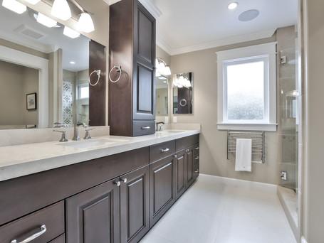 master bathroom, double sink, built-ins, vanity, towel warmer