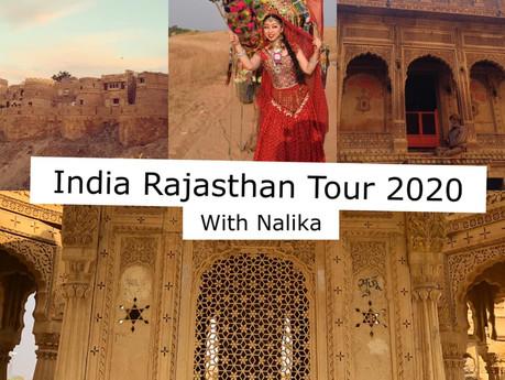 Rajasthan Tour 2020 with Nalika開催します!!