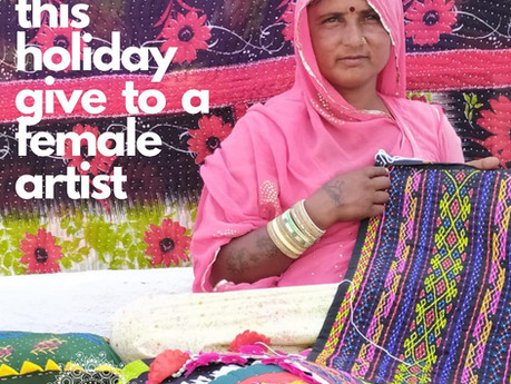 This holiday give to a female artist♡