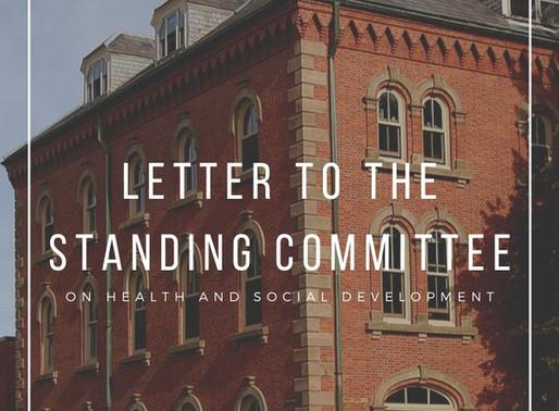 Letter to the Standing Committee on Health and Social Development
