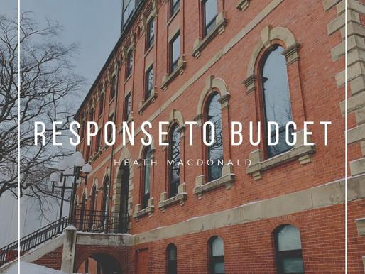 Budget Response 2021