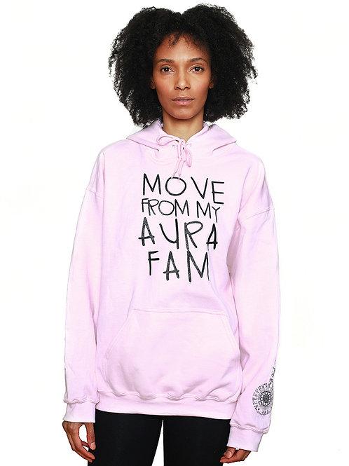 Aura Hoodie - Black on Pink