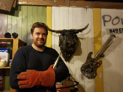 Fergus in the workshop