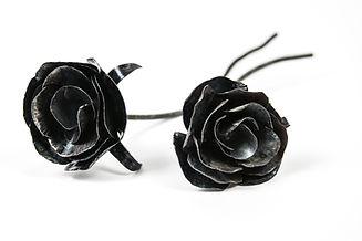 Mini Metal Roses made from recycled scrap metal