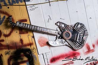 Mini Cooper Metal Guitar Sculpture