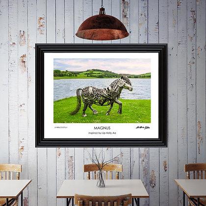 Magnus, the Shetland Pony Print