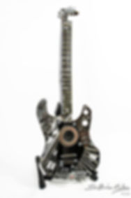 Mini Cooper Guitar made of metal from classic Mini Cooper