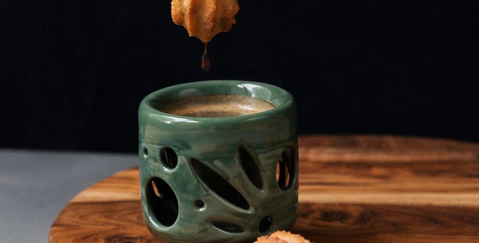 Double Wall Ceramic Espresso Mug 2oz. - Botanical Series