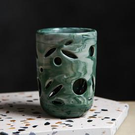 Double Wall Ceramic Mug 8oz - Botanical Series