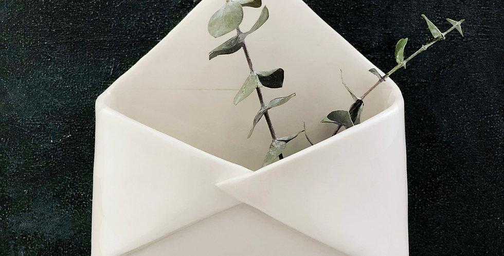 Ceramic Wall Hanging Planter - Envelope