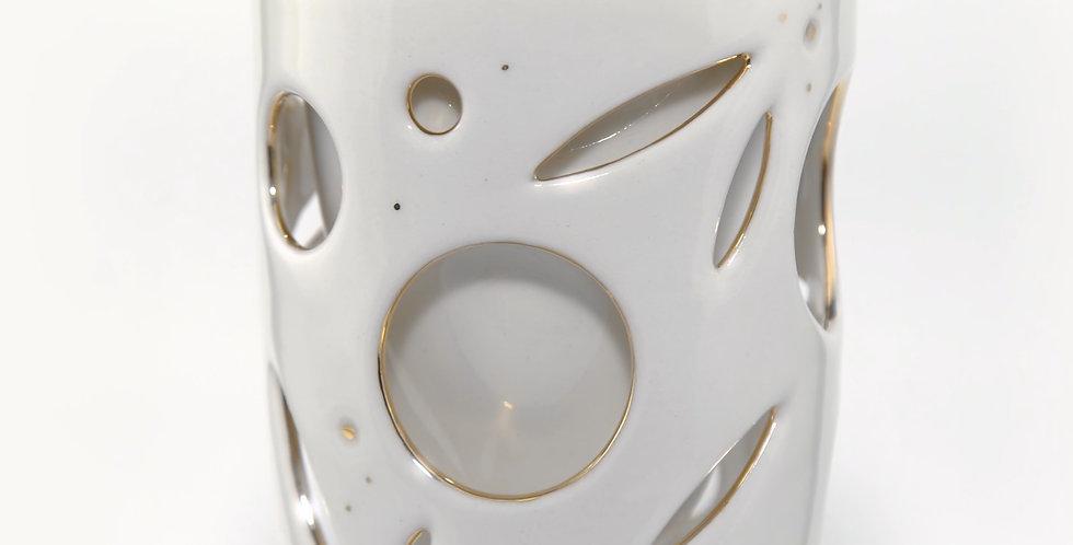 Double Wall Ceramic Mug 8oz. - Gold & Cream Series