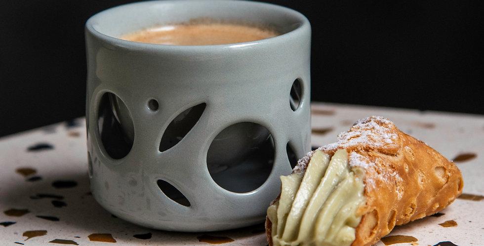 Double Wall Ceramic Espresso Mug 5oz. - Sage Series