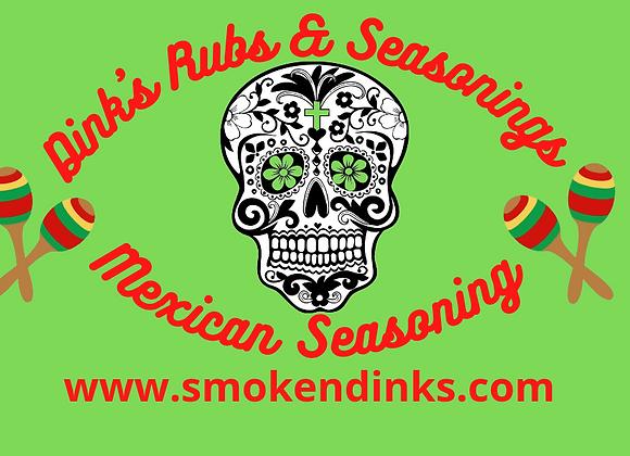 SMALL - .5 lb. Bag Dink's Mexican Seasoning