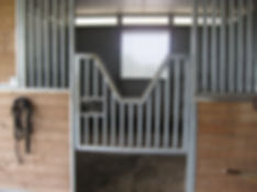 Diamond D Mule Farm's Stalls by MD Barns, 12'x12' matted stalls