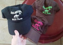 DiaMond D Mule Farm Logo Hats