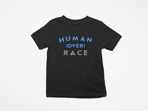kids Human over Race  tee