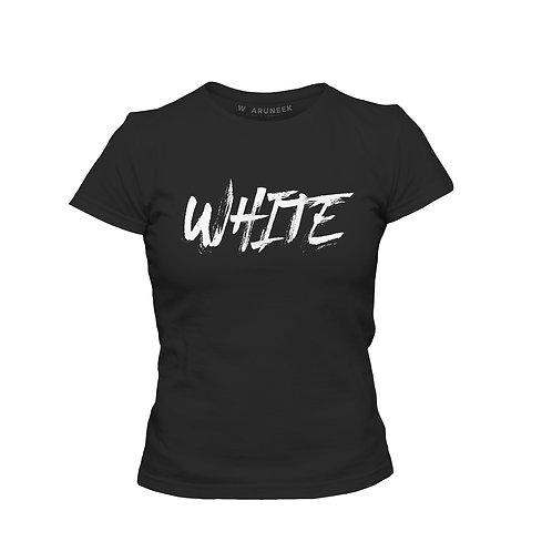 Ladies White Tee