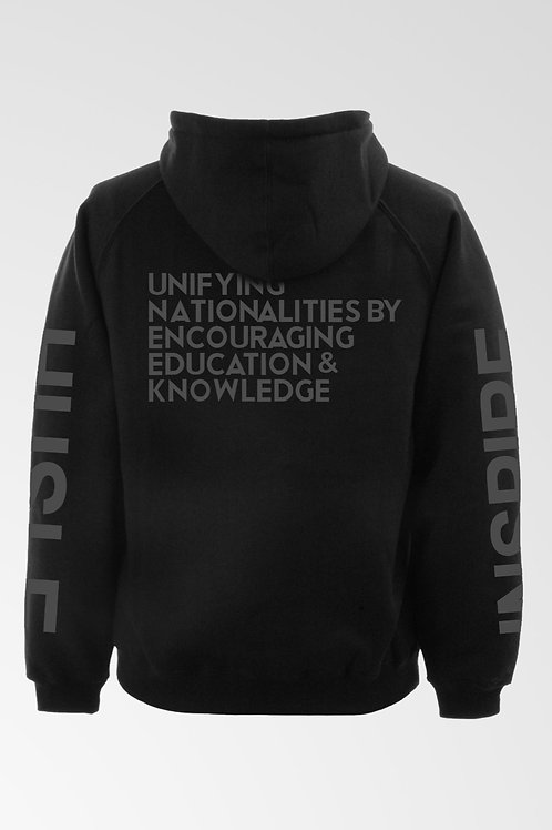BLACK / GREY UNEEK WORLD LOGO HOODIE