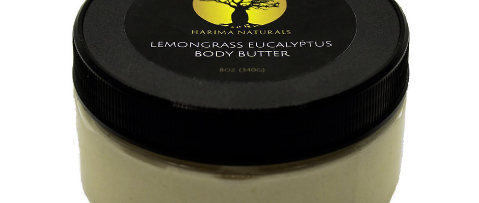 8oz. Lemongrass Eucalyptus Whipped Body Butter