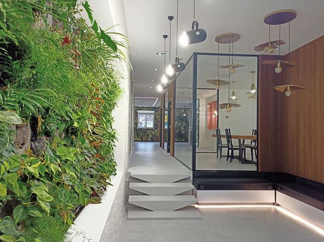 Aménagement d'un local bureaux,espace accueil, open space, bureaux individuels