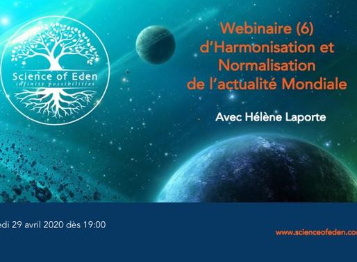 Webinaire 6 d'harmonisation du contexte mondial